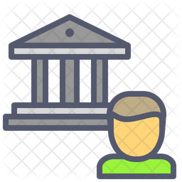 Bank Account Icon Of Colored Outline Style Available In Svg Png Eps Ai Icon Fonts