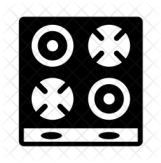 Electric stove Icon of Glyph style - Available in SVG, PNG, EPS ...