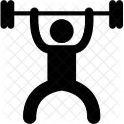 Gym workout Icon of Glyph style Available in SVG PNG EPS AI & Icon fonts