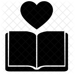 Download Love reading Icon of Glyph style - Available in SVG, PNG ...
