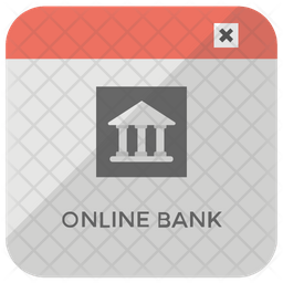 Online Bank Icon Of Flat Style Available In Svg Png Eps Ai Icon Fonts