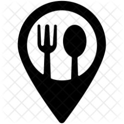 restaurant icon location sign hotel place pointer eating button icons svg maps hotels mapping luncheonette glyph ai travel license select