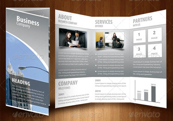 Business tri fold brochure examples wajeb Images
