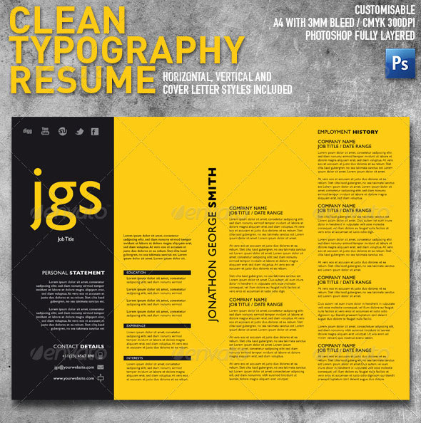 15 Photoshop & InDesign CV Resume Templates Photoshop
