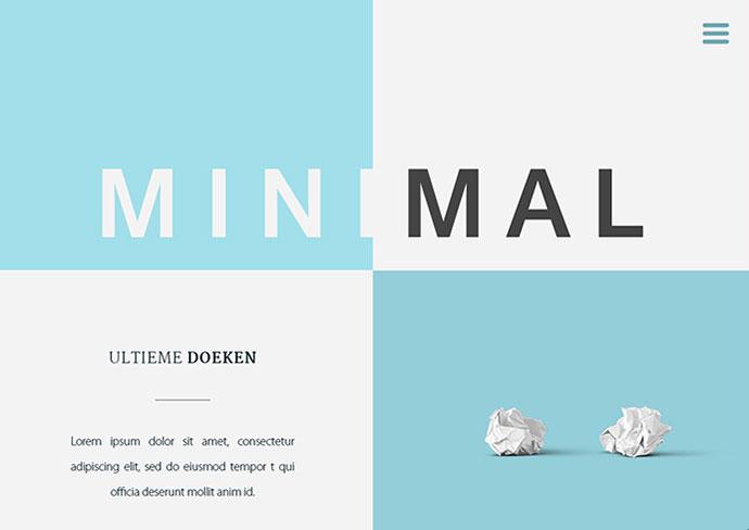 minimal resume website