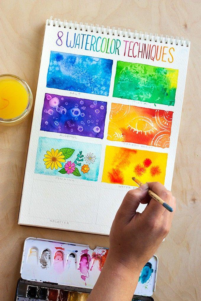 Melukis Menggunakan Cat Air : melukis, menggunakan, Sepele,, Teknik, Bikin, Gambar, Keren
