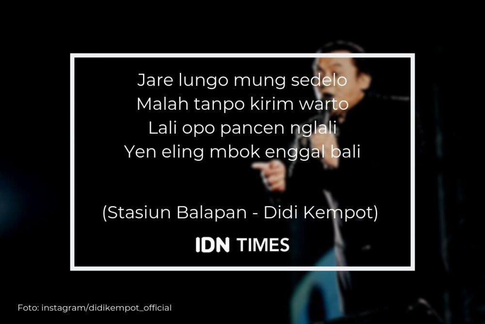 10 Lirik Lagu Memorable Didi Kempot Yang Bikin Ambyar