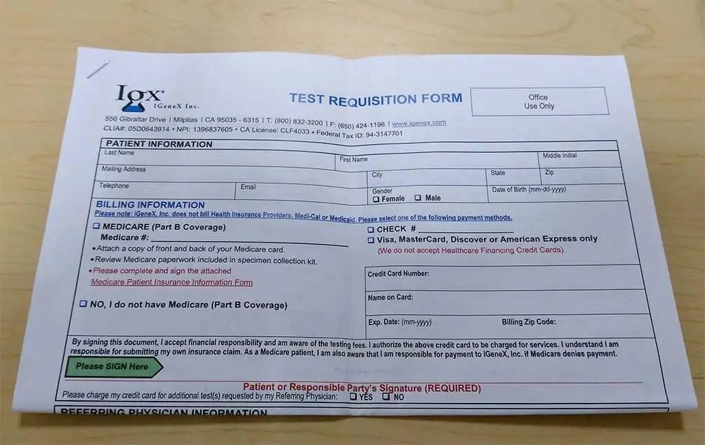 Blood Collection Kit   Lyme Disease Test   IGeneX