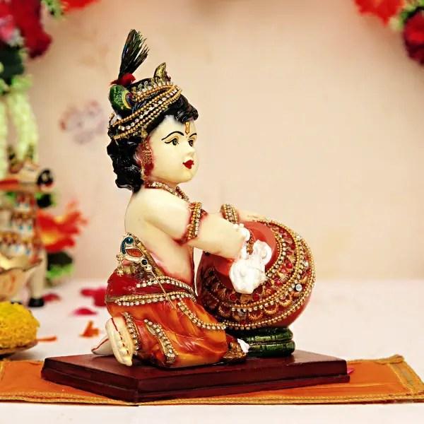 cute lord krishna with