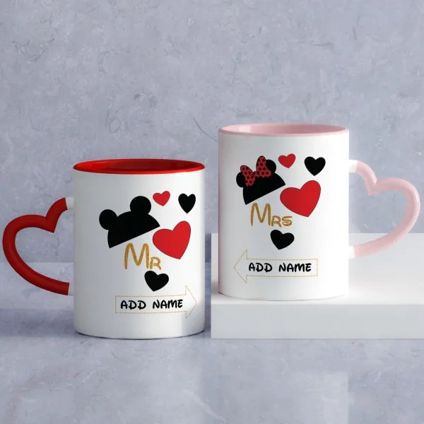 mickey minnie personalized mugs