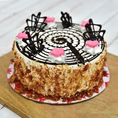 caramel nut cake half