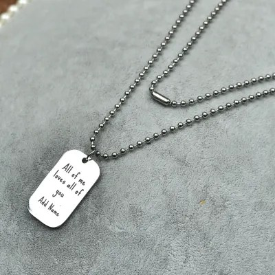 personalized love note pendant