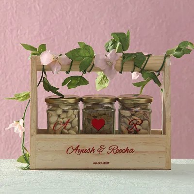 personalized wooden tray and