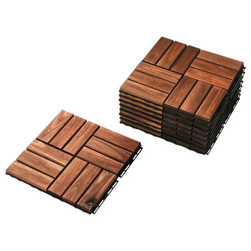 RUNNEN floor decking brown 30x30 cm  IKEA Outdoor