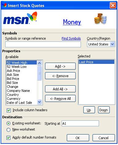 Msn finance