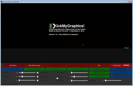 KickMyGraphics default window