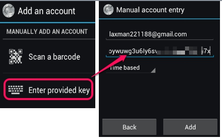 Android Google Authenticator App To Generate 2 Step Verification Codes