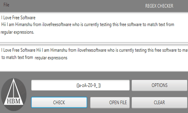 Free Regular Expression Checker Software To Test REGEX