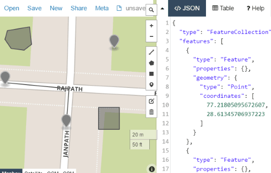 Free Online Map To Display Data From GEOJSON. KML. CSV. etc
