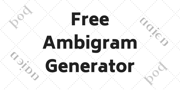 Ambigram Maker Free Download