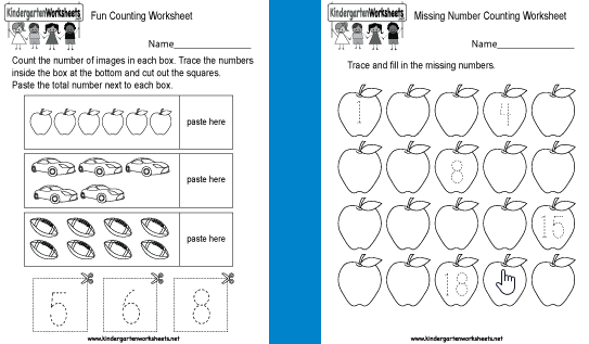 10 Free Websites With Printable Counting Worksheets For