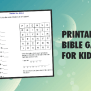Download Printable Bible Games For Kids Using These Free