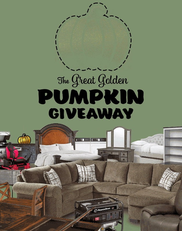 That's why finding a furniture sale or even just a particularly affordable outlet can be a special sort of joy. Badcock Furniture Great Golden Pumpkin Giveaway - I Love ...