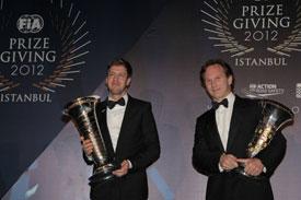 Vettel Horner FIA Awards