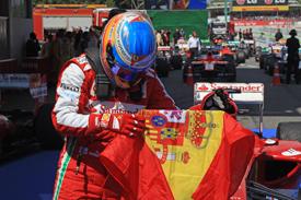 Fernando Alonso wins the 2013 Spanish GP