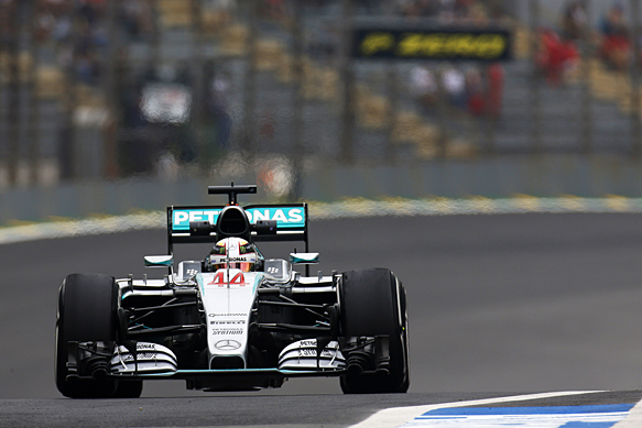 Lewis Hamilton, Mercedes, Brazilian GP 2015, Interlagos
