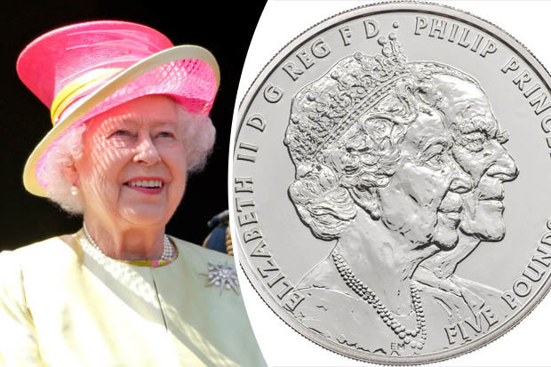 Queen and Prince Philip new coin