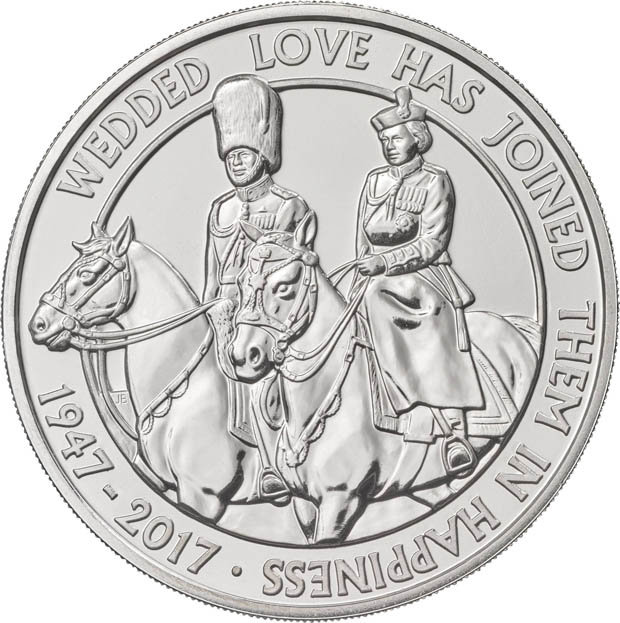 The new coin with Prince Philip and the Queen