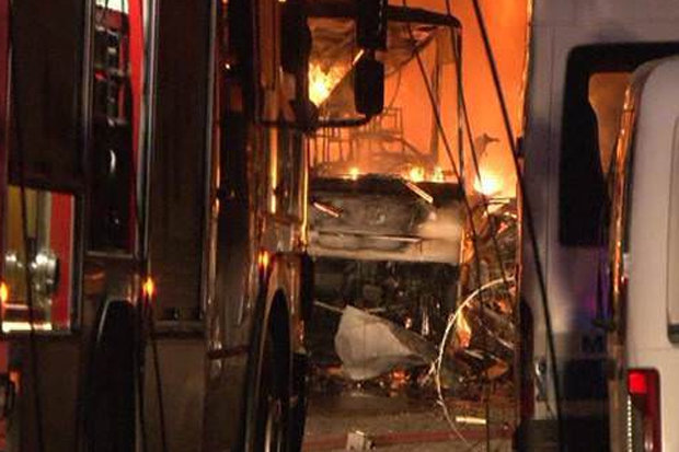 Bomb blast scene in Gaziantep, Turkey