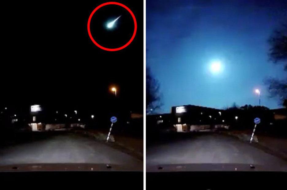 Fireball over Sweden Video of blue light exploding in