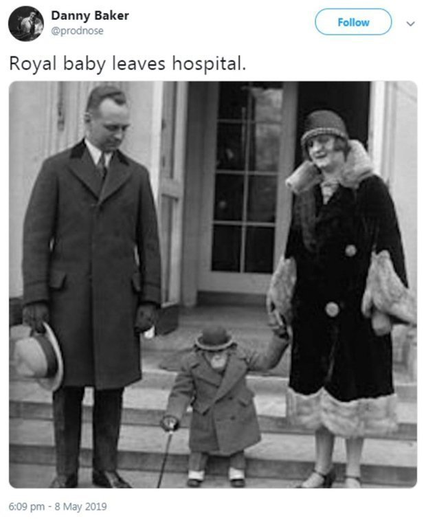 Image result for Danny Baker is fired by the BBC for racist tweet likening royal baby to a monkey