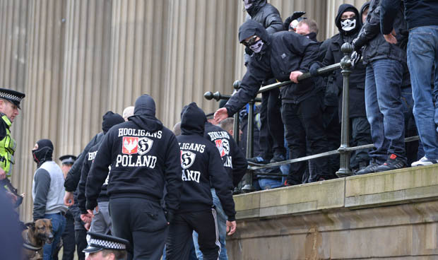 Extremist Nazis at a protest
