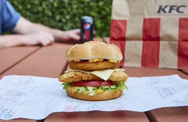 Kfc Launches New Triple Chicken Burger In Australia