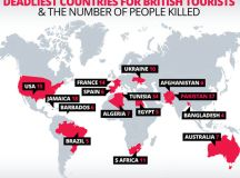 Map of deadly holiday destinations for Brits revealed as ...