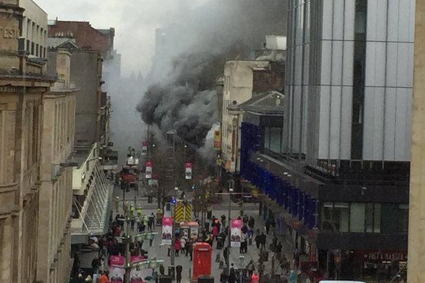 Glasgow Fire Huge Building Blaze Breaks Out In City