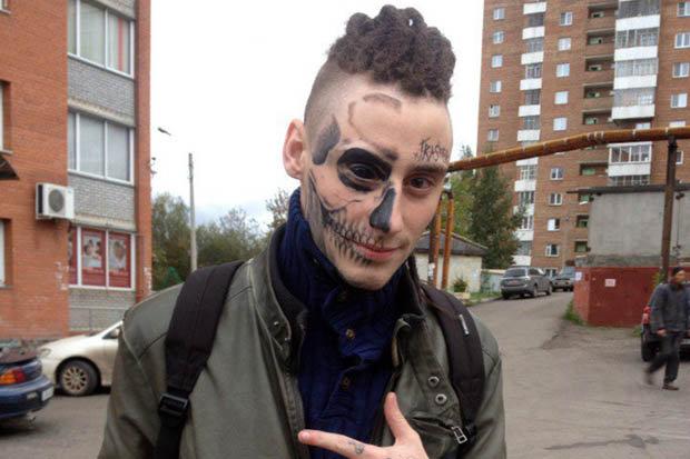Cyberpunk Face Tattoo