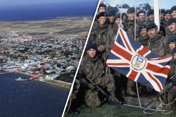 Troops on the Falkland Islands