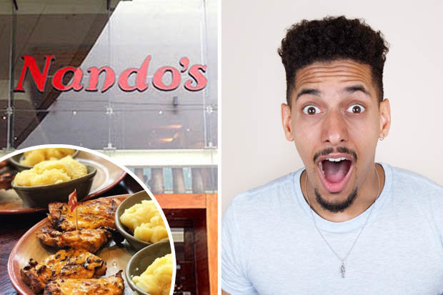 Nando's and an excited person