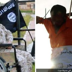 Wheelchair Killer Pier One Rattan Chair Deranged Disabled Isis Crucifies Of Three Spies In Sick Islamic State Execution Video Shows Jihadi Crucifying