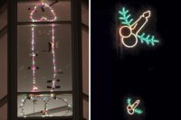Christmas decoration in shape of penis in lad's flat ...