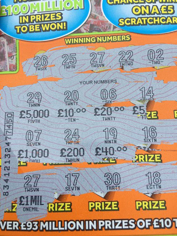 Dad Wins 1 Million On Lunchtime Scratchcard Then Goes