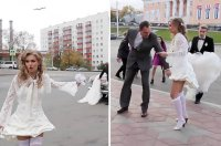 Bride has seriously embarrassing wardrobe malfunction on ...