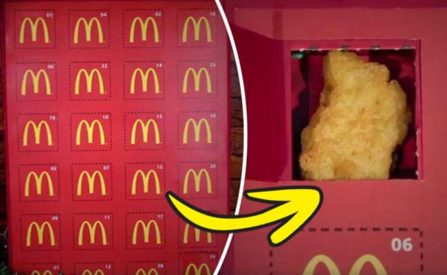 Mcdonald S Chicken Nugget Christmas Advent Calendar