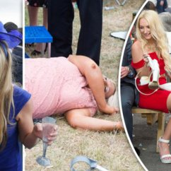 F1 Racing Chair Pottery Barn Irving Ascot Ladies In Booze-fuelled Day At The Races – And It All Got Too Much | Daily Star
