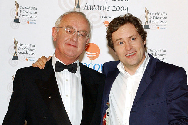 Father Jack Frank Kelly and co-star Ardal O'Hanlon