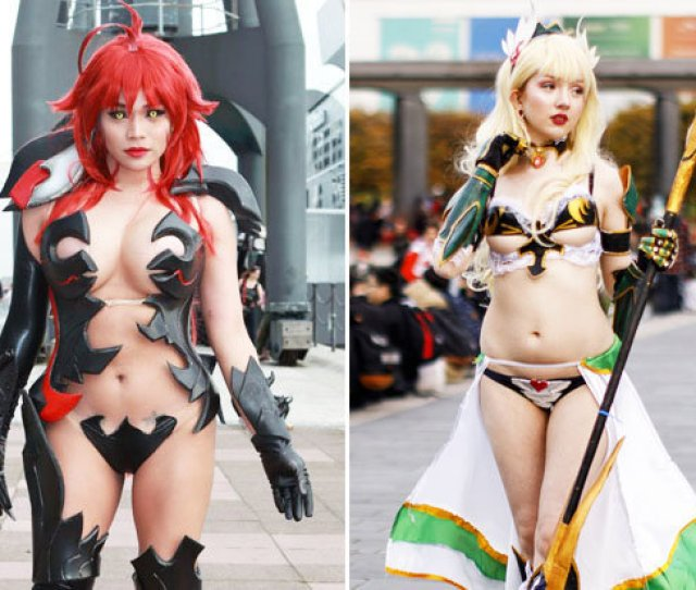 Raunchy Cosplay Babes Flock To Uk As Comic Con Hits Capital